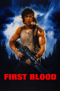 "Poster for the movie ""First Blood"""
