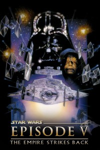 "Poster for the movie ""Star Wars: Episode V - The Empire Strikes Back"""